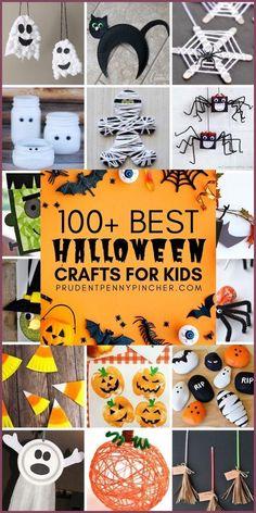 100 Best Halloween Crafts for Kids #halloween #crafts #halloweencrafts #halloweendecorations #halloweendecor #diy #diycrafts #craftsforkids Halloween Party Snacks, Halloween Crafts For Toddlers, Halloween Tags, Halloween Birthday, Halloween Costumes, Kids Crafts, Halloween Unicorn, Halloween Couples, Pretty Halloween