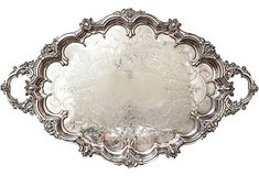 ♔ 1860s Large French Tray
