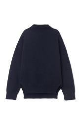 <p>The Charlotte Sweater makes it easy to stay both warm and refined in the colder months. Its minimalistic silhouette with a high neck, dolman sleeves and subtly ribbed structure is brought to life by surprising slit details on the sides.<br /><br />- Size Small measures 130 cm in chest circumference,71 cm in length and48 cm in sleeve length.</p><p></p>