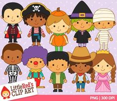 Halloween costume clip art by Little Red's Schoolhouse $