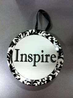 My Energy Bus word - plate from Michael's! Make plates for Ts for BOY.