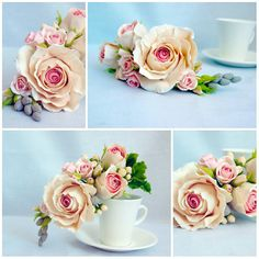 Casamento topo de bolo, bolo de casamento decoração, porcelana fria, flores sobre o bolo, flores do casamento
