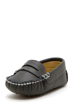 Leather Stitched Detail Pennyloafer on HauteLook