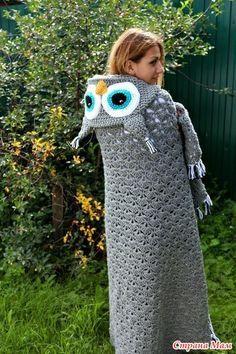 Diy Crochet Owl, Crochet Owl Blanket, Crochet Hippo, Crochet Stars, Knit Or Crochet, Crochet For Kids, Crochet Motif, Crochet Baby, Crochet Towel Topper