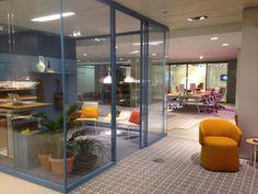 So much color at Haworth's NeoCon 2015 showroom.