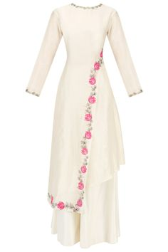 Baavli presents Offwhite Handpainted Kurta set available only at Pernia's Pop Up Shop. Abaya Fashion, Muslim Fashion, Indian Fashion, Fashion Dresses, Pakistani Dresses, Indian Dresses, Indian Outfits, Kurti Designs Party Wear, Kurta Designs