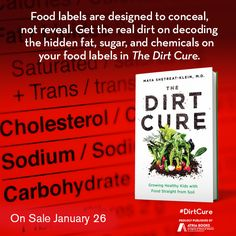Food labels are designed to conceal, not reveal. Get the real dirt on decoding the hidden fat, sugar, and chemicals on your food labels in The Dirt Cure by Maya Shetreat-Klein, MD available January 26, 2016.