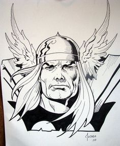 Thor sketch by Joe Jusko, would love to get a Jusko sketch! Comic Book Artists, Comic Artist, Comic Books Art, Marvel Drawings, Art Drawings, Batman, Thor Drawing, Frank Miller Art, Marvel Coloring