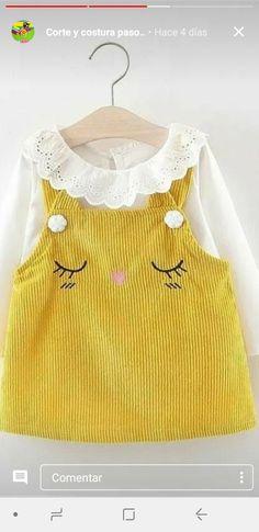 Baby Girl Frocks, Frocks For Girls, Pretty Little Dress, Little Dresses, Toddler Girl Dresses, Girls Dresses, Baby Girl Fashion, Kids Fashion, Baby Girl Dress Design