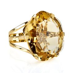 Collection by Vianna, Citrine and Diamond Ring, in 18kt Yellow Gold