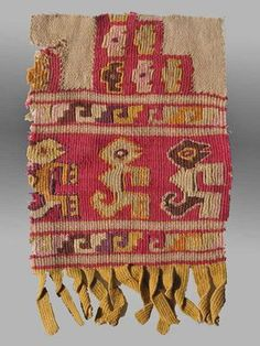 Chimu Textile Fragment, Peru, ca. 200 AD