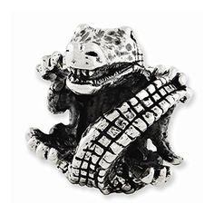 Sterling Silver Reflections Alligator Bead -- Continue to the product at the image link.