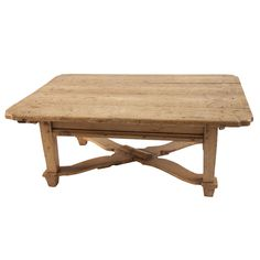 Lopez Coffee Table at Found Vintage Rentals. Wooden coffee table with light finish