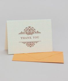 Take a look at this Ironwork Box of Six Thank You Cards by Hello Lucky on #zulily today!