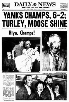 1958 World SeriesYankees over Braves, 4-3Stars: MVP Bob Turley appeared in four games, winning twice, losing once and closing out another. Hank Bauer (.323) had four homers and eight RBI.Synopsis: The Yankees trailed in games, 2-0 and 3-1, but came back to win the Series anyway. Warren Spahn won Game 1 in 10 innings and Lew Burdette won Game 2, 13-5, even adding a three-run homer in a seven-run first inning that kayoed Turley.Don Larsen started Game 7, but was out in the third inning. ...