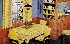 Yellow & Blue Kitchen by saltycotton, via Flickr