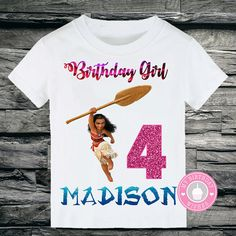 Moana Personalized Birthday Shirts - Girls