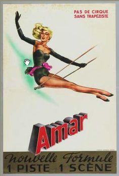 """Gorgeous vintage Eastern European posters of acrobats and aerialists"" (via @brainpicker on Twitter)"