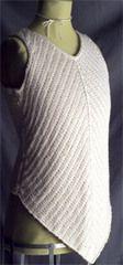 Ravelry: Chevron Rib Tank pattern by Ann Budd cotton yarn