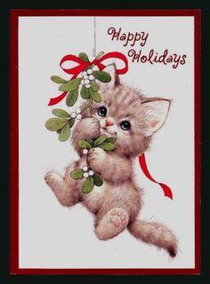 362-GC Bill & Ruth Morehead CAT KITTEN Unused Christmas Greeting Card | eBay