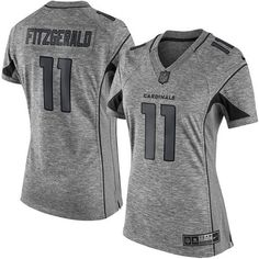 5851bcde1f5 Nike Limited Larry Fitzgerald Gray Women's Jersey - Arizona Cardinals #11  NFL Gridiron
