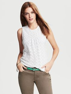 Perforated Lace Top Product Image