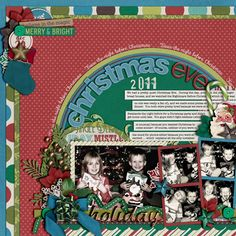 Love this Christmas #scrapbook page from @Cindy Schneider | Christmas Past kit from Peppermint Creative