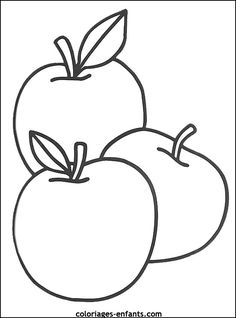 The Delicious Fruit Apple Coloring Page Colouring