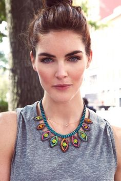 Supermodel Hilary Rhoda models 4 perfect looks. Photos by Michael Flores.