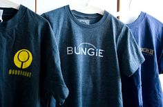 "Bungie is my all time favorite computer game maker and their grey, simple but kick-ass attitude t-shirt (back slogan says ""Don't make us kick your ass"") is a perfect fit for me. Literally and figuratively =)"