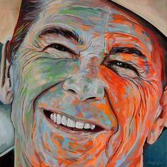 Ronald, Acryl auf Leinwand, Maße: 80 x 80 x 4 cm, rückseitig betitelt, datiert, signiert und gestempelt, Entstehungsjahr: 07/2014, Artist: Rudolf Rox