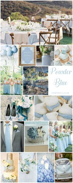 powder blue wedding mood board