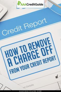 How to remove a charge off