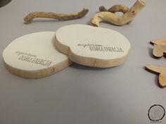 Drewniane podstawki pod kubek z Dobrą Energią - WoodPlanet - Dekoracje