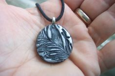 Sweet Little Feather Impression Necklace by mymotherswish on Etsy, $18.00
