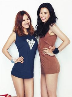 Lee Hyori, Honey Lee. Ridiculous how pretty they are and so thin esp at that age. Jealous.