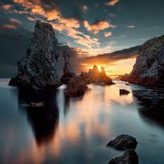sunset | port coton | belle ile en mer | brittany, france