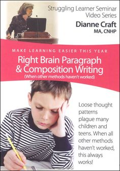 Right Brain Paragraph & Composition Writing DVD | Main photo (Cover)
