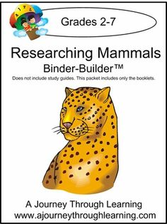 Does Your Student Love Researching Animals This Binder Builder Gives A Place To Record Information About Many Favorite Mammals