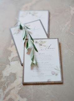 Menu -- Photo Credit Elizabeth Messina    Curtis Stone Wedding   Lisa Vorce CO