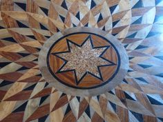 Wooden mozaic Borgia palace Gandia Spain