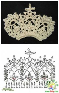 Crochet crown ♥LCJ♥ with diagram