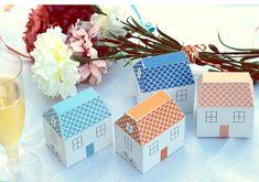 little house template - print, cut, fold. cute!
