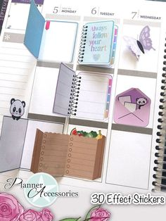 Bullet Journal Notebook, Bullet Journal Inspiration, Bullet Journal Layout, Album Journal, Scrapbook Journal, Diy Scrapbook, Planner Stickers, Cute Planner, Happy Planner