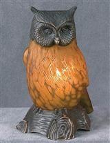 EDWARDIAN OWL LAMP (C. 1915)