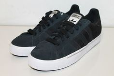 Adidas CAMPUS VULC Black Run White Skateboarding Men's Shoes Size 8.5 #adidas #Skateboarding