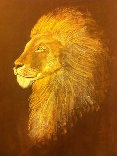 Lion blackboard drawing