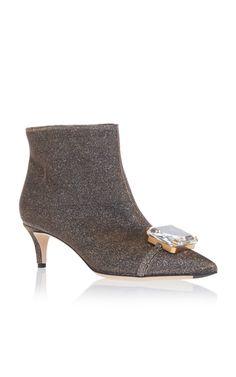 d8a7c0195ba0 Medium marco de vincenzo metallic bejeweled kitten heel bootie Latest  Summer Fashion