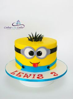 MINION CAKE Strawberry Butter Cake With Buttercream Was The Strict Instructions Of My 3 Year Old Client Who Requested This Minion For His