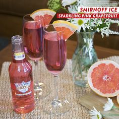 SPARKLING PINK GRAPEFRUIT is a delicious new flavor from Smirnoff ICE. It's the perfect drink for summer parties and weekend brunch.